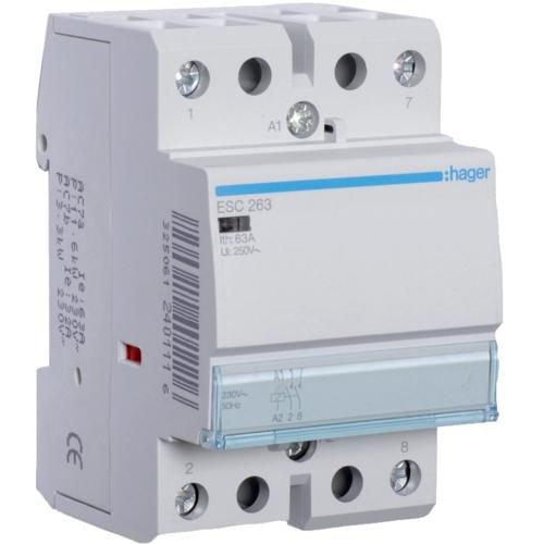 Contactor 63A 2ND 230V Hager ESC263