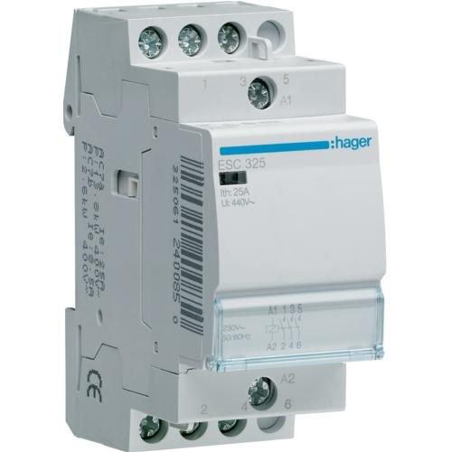 Contactor 25A 3ND 230V Hager ESC325