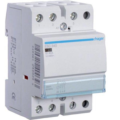 Contactor 40A 3ND 230V Hager ESC340