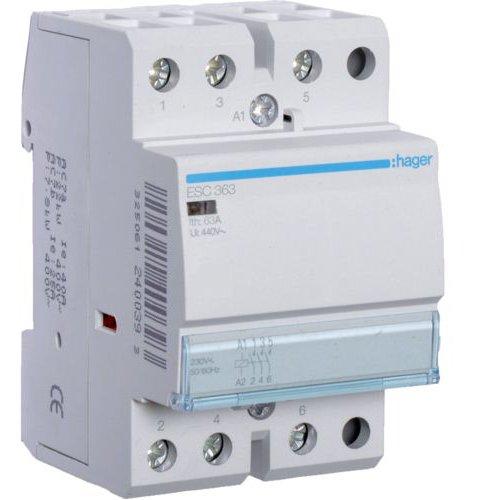 Contactor 63A 3ND 230V Hager ESC363