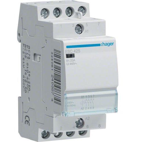 Contactor 25A 4ND 230V Hager ESC425
