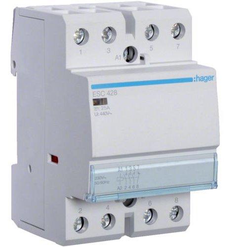 Contactor 25A 3ND+1NI 230V Hager ESC428