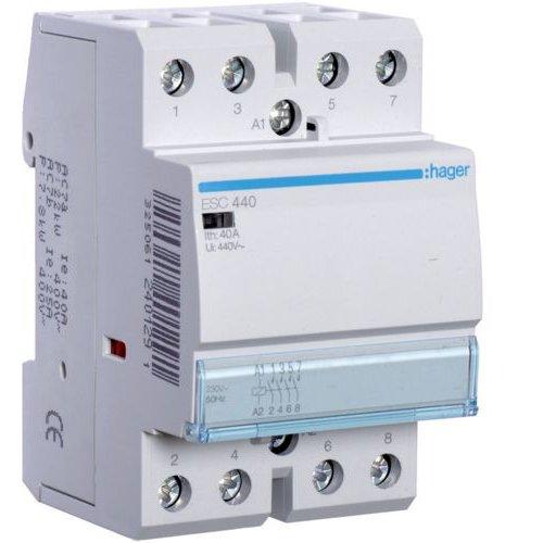 Contactor 40A 4ND 230V Hager ESC440