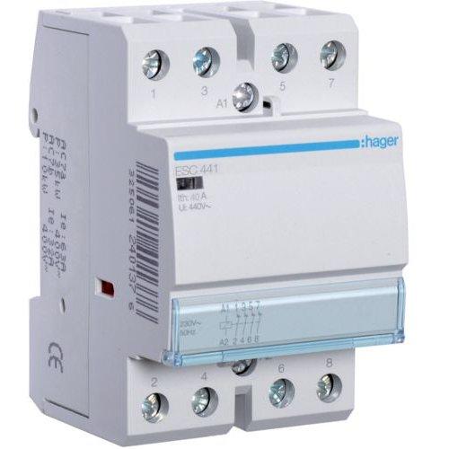 Contactor 40A 4NI 230V Hager ESC441