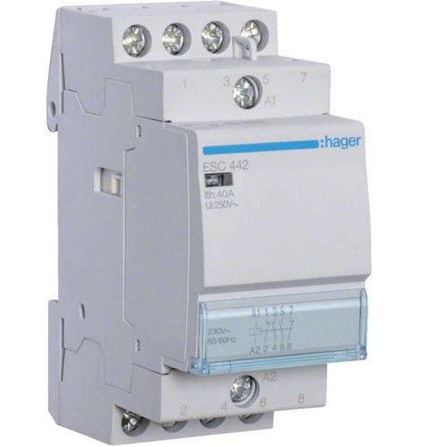 Contactor 40A 2ND+2NI 230V Hager ESC442