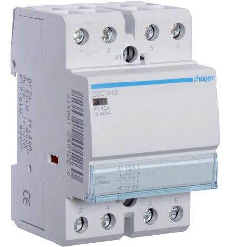 Contactor 40A 3ND+1NI 230V Hager ESC443