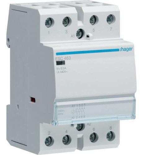 Contactor 63A 4ND 230V Hager ESC463