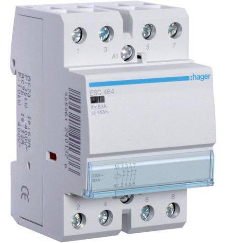 Contactor 63A 4NI 230V Hager ESC464
