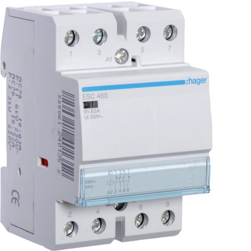 Contactor 63A 2ND+2NI 230V Hager ESC465
