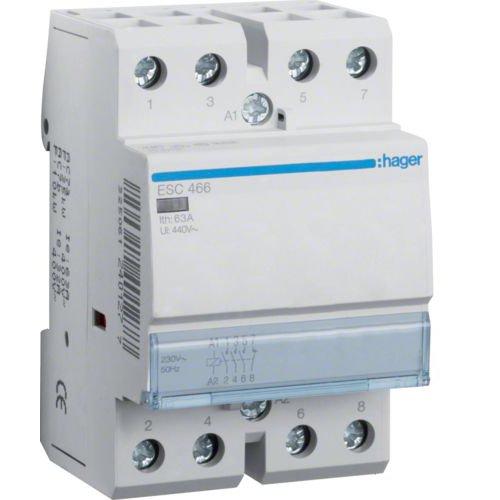 Contactor 63A 3ND+1NI 230V Hager ESC466