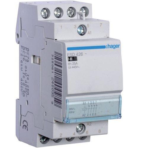 Contactor 25A 4NI 24V Hager ESD426
