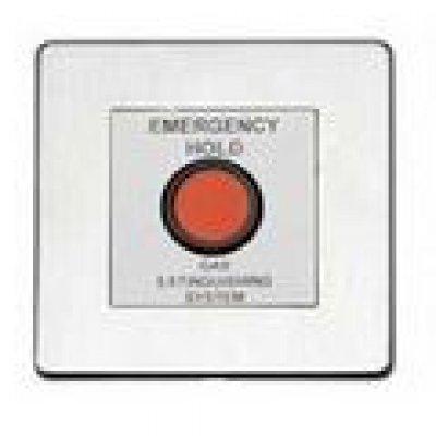 Comutator pentru mentinerea eliberarii gazului extinctor Advanced Electronics Exp-003-002 placuta protectie inox