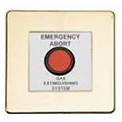Comutator pentru anularea eliberarii gazului extinctor Advanced Electronics Exp-004-002 placuta protectie inox