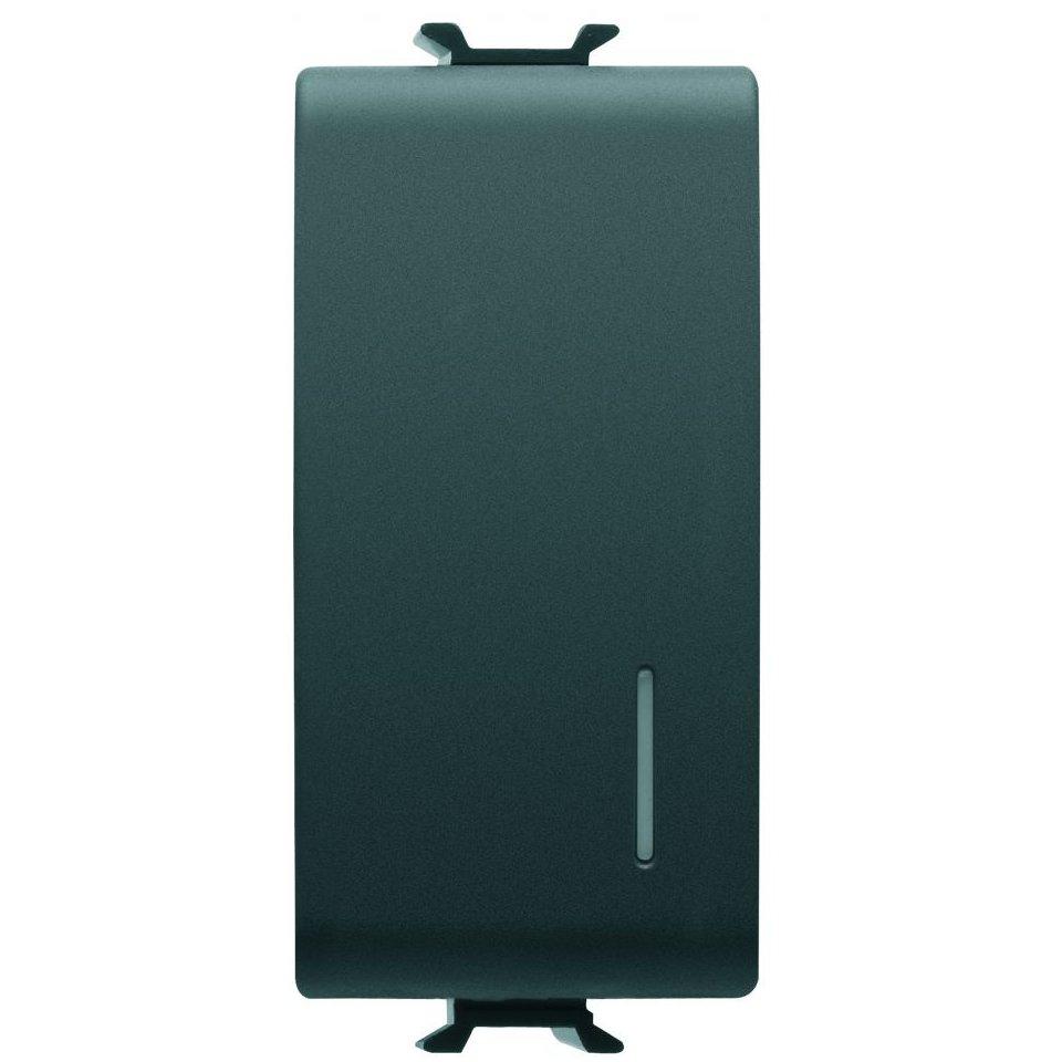 Intrerupator simplu+led 1 modul negru Gewiss Chorus GW12002