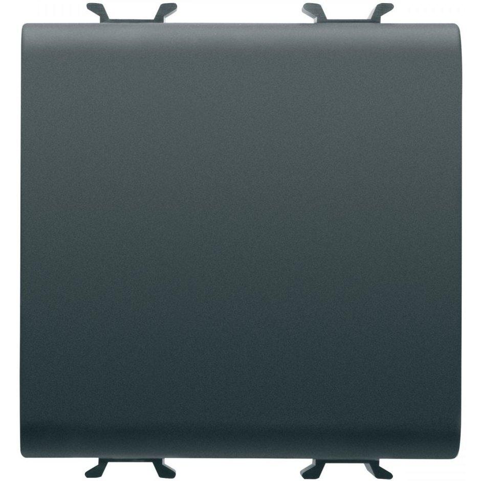 Intrerupator simplu 2 module negru Gewiss Chorus GW12031