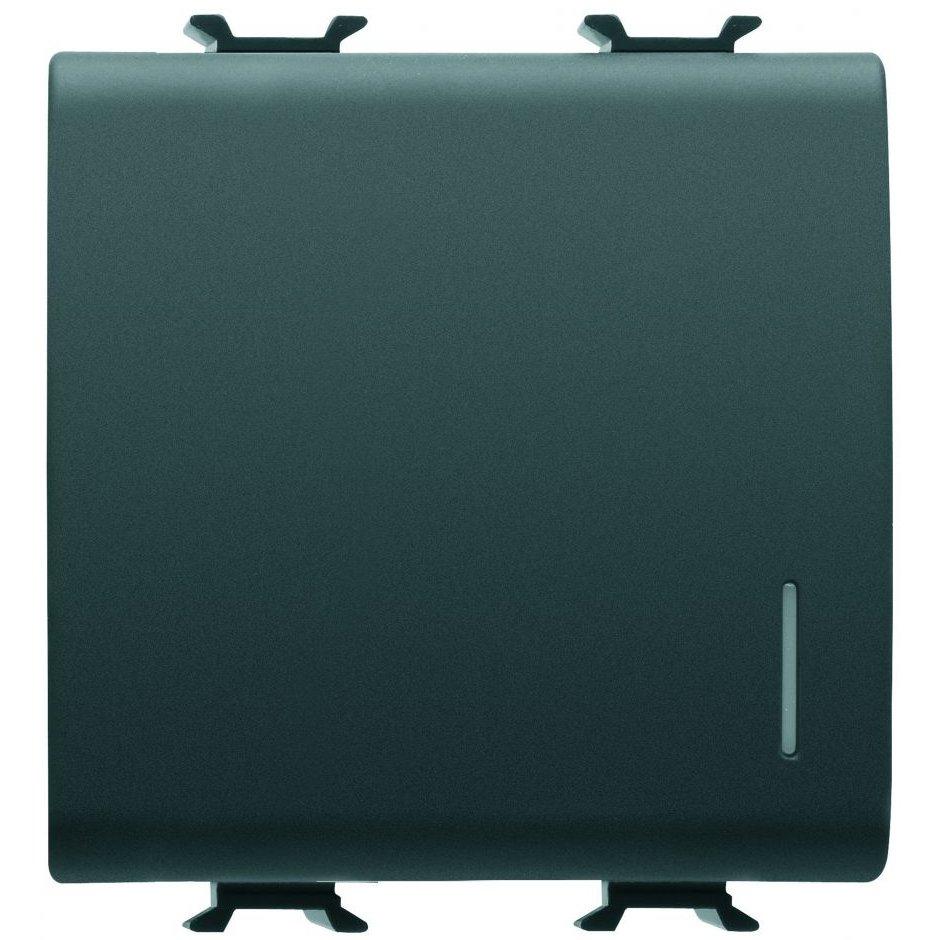 Intrerupator cap scara+led 2 module negru Gewiss Chorus GW12072