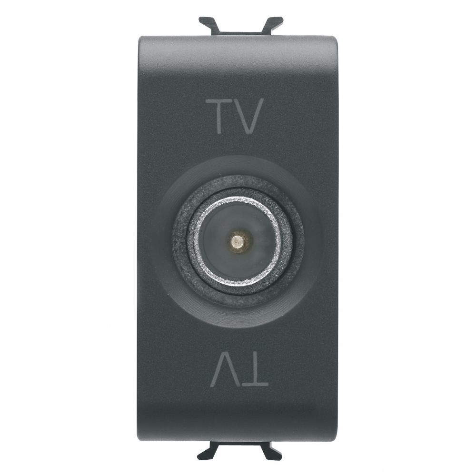 Priza tv directa 1 modul Gewiss Chorus GW12361 negru
