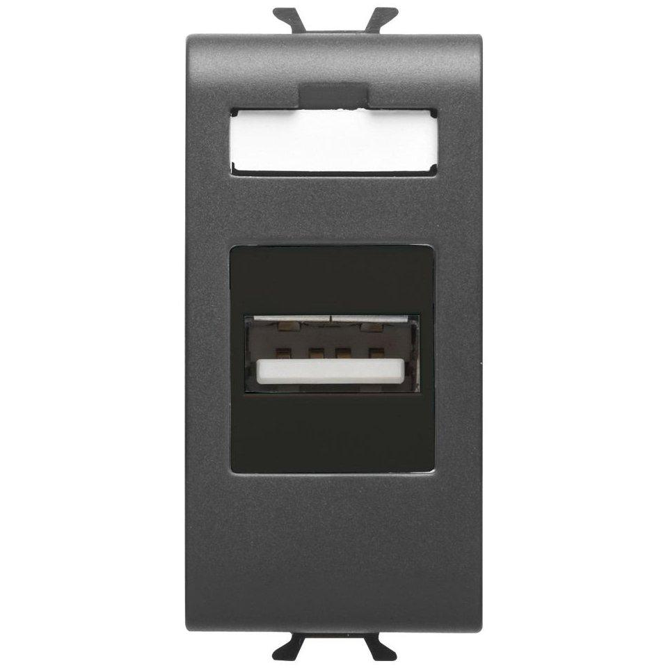 Priza USB 1 modul Gewiss Chorus GW12459 negru