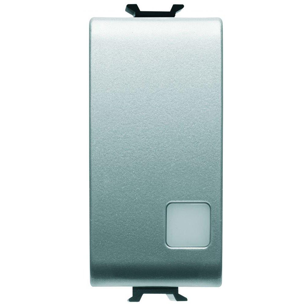 Intrerupator simplu cu led 1 modul titan Gewiss Chorus GW14003