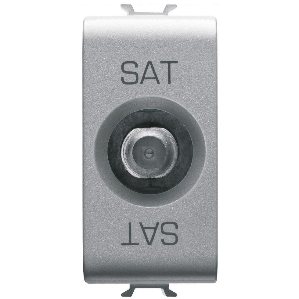 Priza TV/SAT de trecere 5dB 1 modul titan Gewiss Chorus GW14372