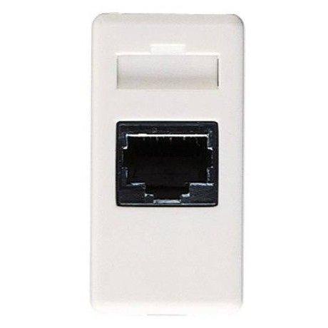 Priza telefon 1 modul RJ11 Gewiss System alb
