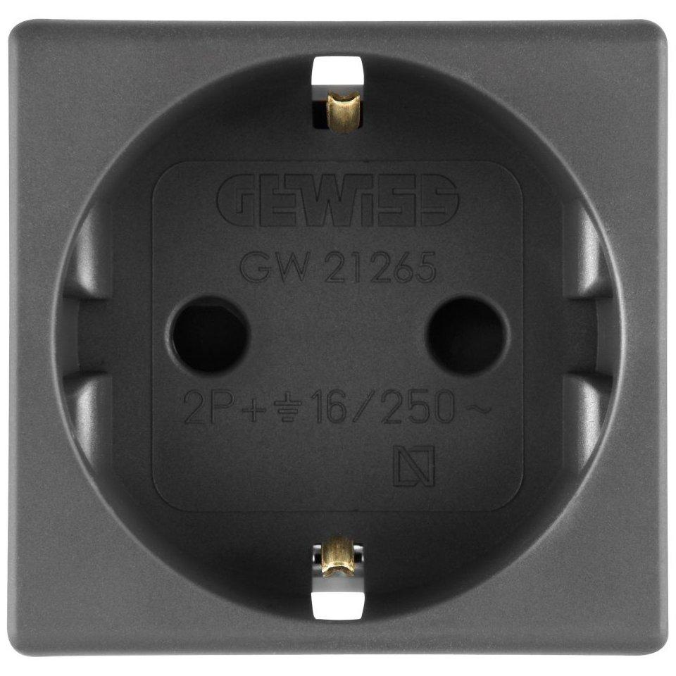Priza shuko 2 module negru Gewiss System GW21265