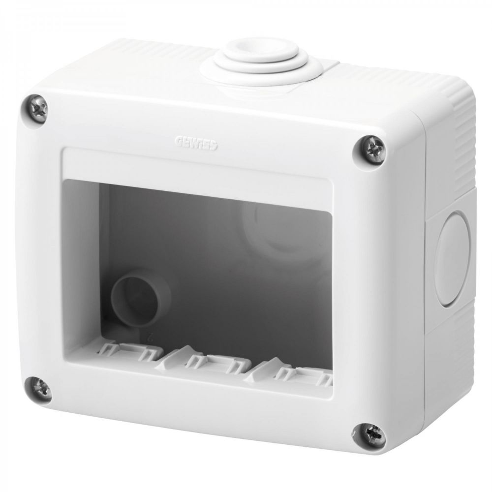 Doza aplicata 3 module IP 40 Gewiss System GW27003