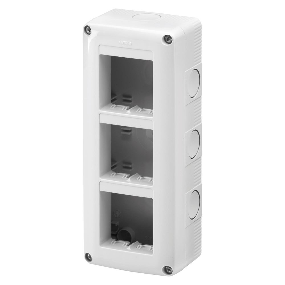 Doza aplicata verticala 6 module(3x2) IP 40 Gewiss System GW27022