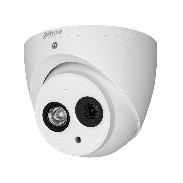 Imagine Camera Dome Hdcvi Dahua Hac-hdw1400em-a 4mp 2.8mm Smart Ir 50m Ip67 Microfon Incorporat