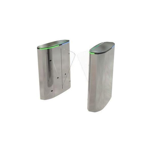Turnichet inox cu geam bidirectional Ozak HG02 GL-S module configurabile stanga/dreapta