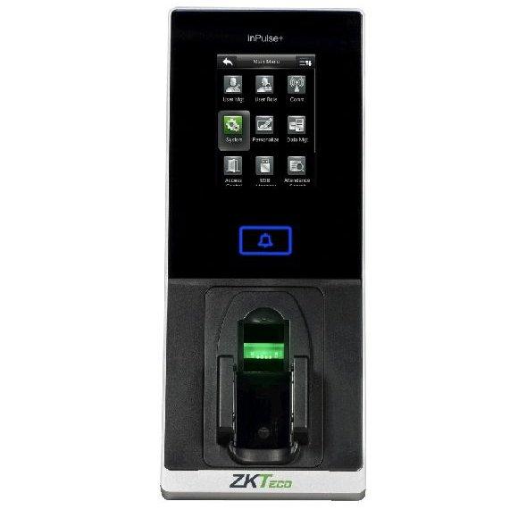 Controler de acces cu functie de pontaj ZKTeco InPULSE+ cu recunoastere vene amprente cititor de proximitate si cod PIN