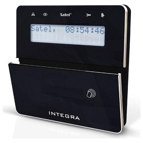 Tastatura alarma Satel INT-KLFR-BSB LCD Cititor de proximitate Compatibila INTEGRA Negru