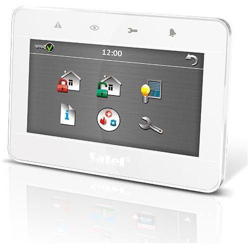 Tastatura alarma Satel INT-TSG-WSW Touchscreen 4.3 inch Compatibila INTEGRA/VERSA Alb