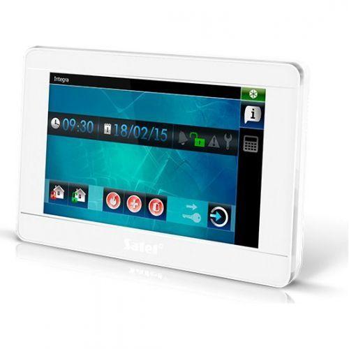 Tastatura alarma Satel INT-TSI-WSW Touchscreen 7 inch Compatibila INTEGRA/VERSA Alb