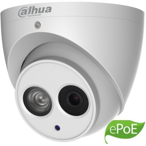 Camera IP Dahua IPC-HDW4431EM-ASE Dome 4MP CMOS 1/3inch 2.8mm 1 LED IR 50m WDR 120dB H.265+ Microfon IP67 ePoE Carcasa metal IPC-HDW4431EMP-A