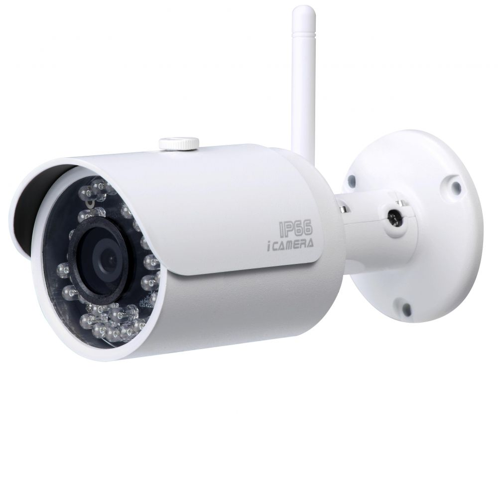 Camera Ip Wi-fi De Exterior 2mp Cu Ir Dahua Ipc-hfw1200s-w