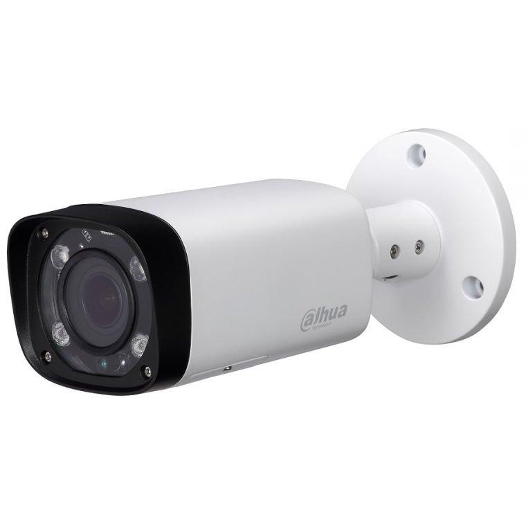 Camera bullet IP Dahua IPC-HFW2221R-ZAS-IRE6 2MP lentila varifocala motorizata 2.7-12mm IR 60m IP67 WDR 120dB PoE ONVIF slot card microSD