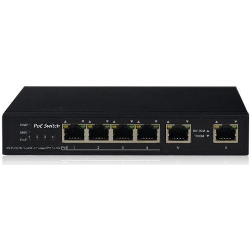 Switch IP View IW3006GSN 4+2 porturi Gigabit PoE 60W