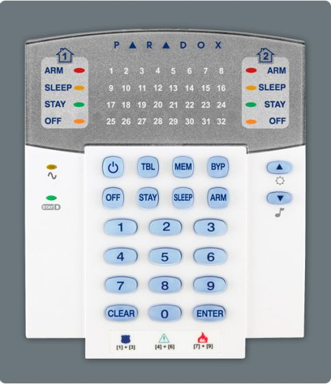 Tastatura Wireless Led 32 Zone Paradox K32w