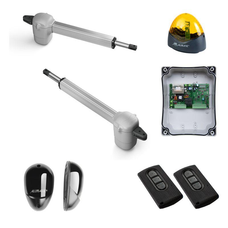 Kit Automatizare Porti Batante Allmatic Kineo 400 Pentru Porti De Pana La 3m Si 250kg/foaie Alimentare 220v