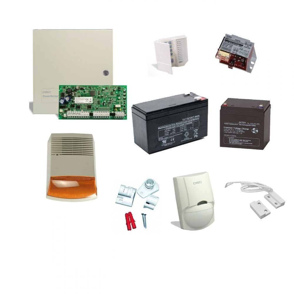 Kit alarma cu sirena de exterior DSC KIT 1616 EXT SIR