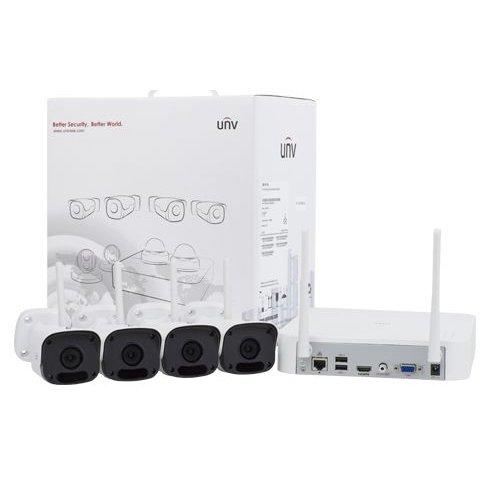 Sistem wireless UnvKIT-2122F40W-4B NVR + 4 camere bullet IP 2MP