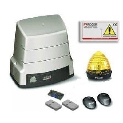 Kit automatizare poarta culisanta Roger Brushless BH30/605 alimentare 24V limitator mecanic utilizare intensiva