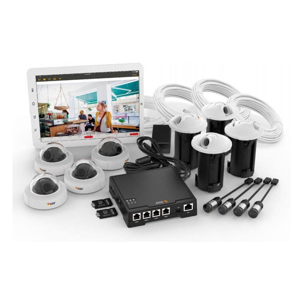 Kit supraveghere video AXIS F34 cu 4 canale 720p