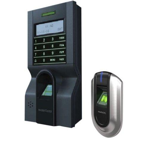 KIT de control acces si pontaj cu amprenta (controler plus cititor suplimentar) ZKTeco KIT-FPAP-8
