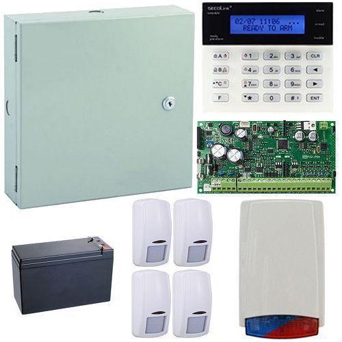 Kit antiefractie Secolink KIT-SEK-4 Centrala efractie 16 zone + tastatura + cutie + 4 detectori + sirena exterior + acumulator