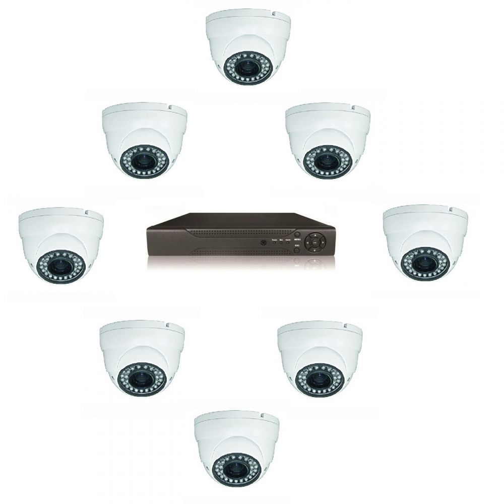 Kit Supraveghere Video Cu 8 Camere Dome Ahd Guardview