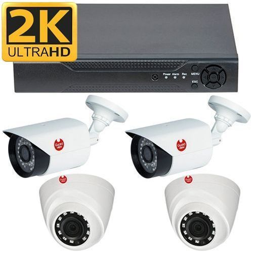 Kit analogic Guard View Supraveghere mixt AHD 4MP 2 Camere Bullet GBA4F3M + 2 Dome GDA4F2P KITGV4MP-DVR5IN12B2D