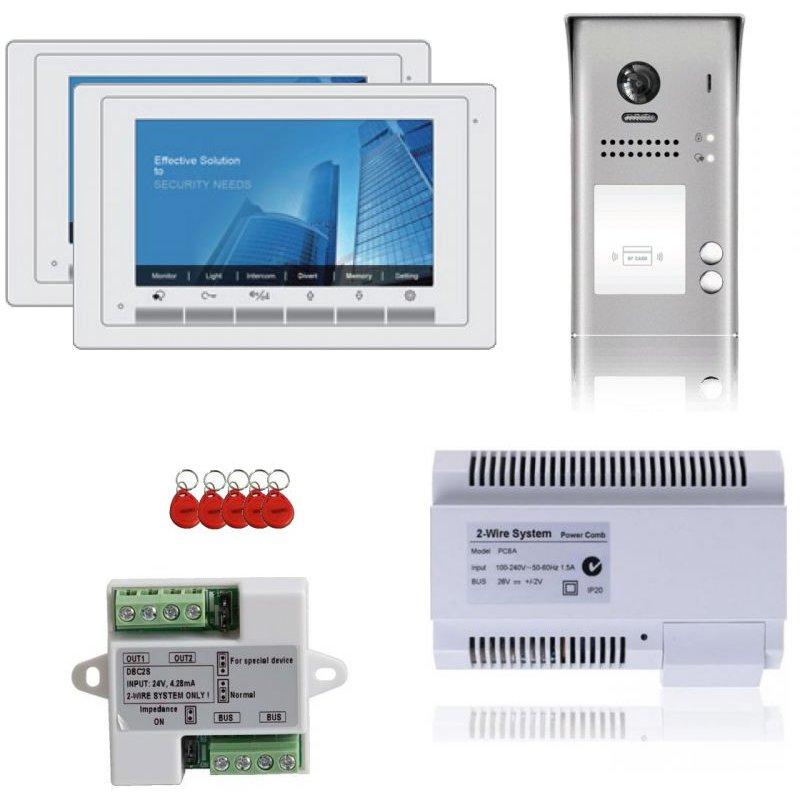Kit videointerfon pentru 2 familii V-TECH cu monitoare de 7 inch