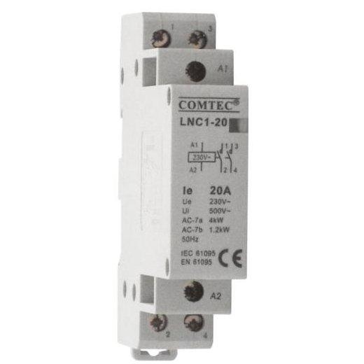 Contactor pe sina DIN 4P/20A 4NC LNC1-20 Comtec MF0003-00774